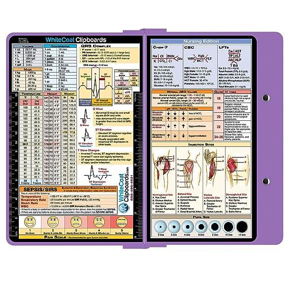 Amazon whitecoat clipboard lilac nursing edition amazon whitecoat clipboard lilac nursing edition folding clipboard nursing office products fandeluxe Gallery