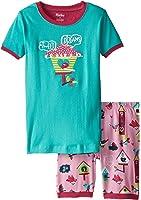 Hatley Little Girls' Bird House Short Pajama Set