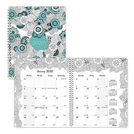 Amazon.com: Planificador mensual para colorear Blueline 2020 ...