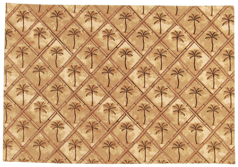 amazon com leila u0027s linens palm tree placemat one size beige multi