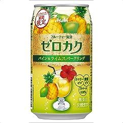 【ノンアルコール飲料の新商品】アサヒ ゼロカク 期間限定パイン&ライムスパークリング 350ml×24本