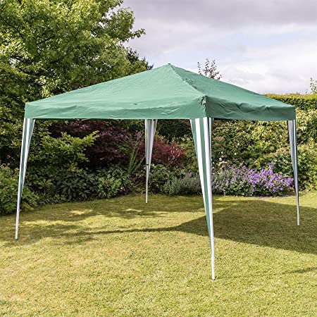 Large Pop Up Folding Garden Gazebo With Canopy   3x3m   Green