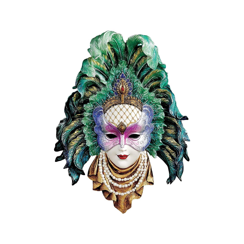 Design Toscano Maidens of Mardi Gras Wall Mask Sculpture Peacock Princess WU75073-Parent