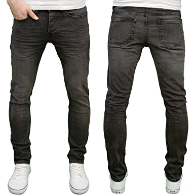 c09cc88c661221 Enzo Mens Designer Washed Black Stretch Skinny Fit Jeans at Amazon Men's  Clothing store: