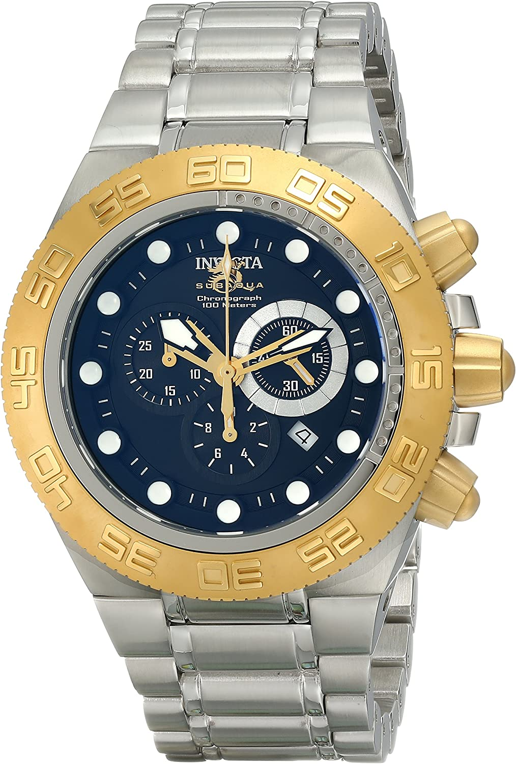 Invicta Men s 1528 Subaqua Sport Chronograph Black Dial Stainless Steel Watch