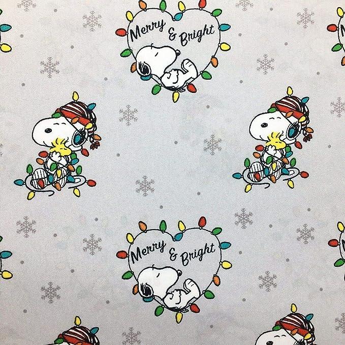 RL Home Snoopy Peanuts Woodstock Sledding Winter Holiday Christmas King Size Sheet Set