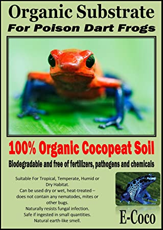 E Coco Products Uk Poison Dart Frog Bedding Substrate Soil For