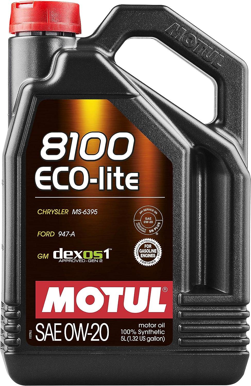 Motul 8100 ECO-lite 0W-20 Synthetic Oil 5 Liters (108536)