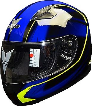 Vega cascos Mach 2.0 JR Kids jóvenes motocicleta casco – Lunares Certificado Full Face casco de
