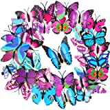 36 Pieces Butterfly Hair Clips Colorful Butterfly Barrettes 3D Christmas Butterfly Hair Clips for Women Party Favors