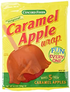 Concord Confections Caramel Apple Wrap, 5 Count