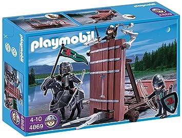 Playmobil - Carro de Asalto con Caballeros del Halcón, Set de Juego (4869)