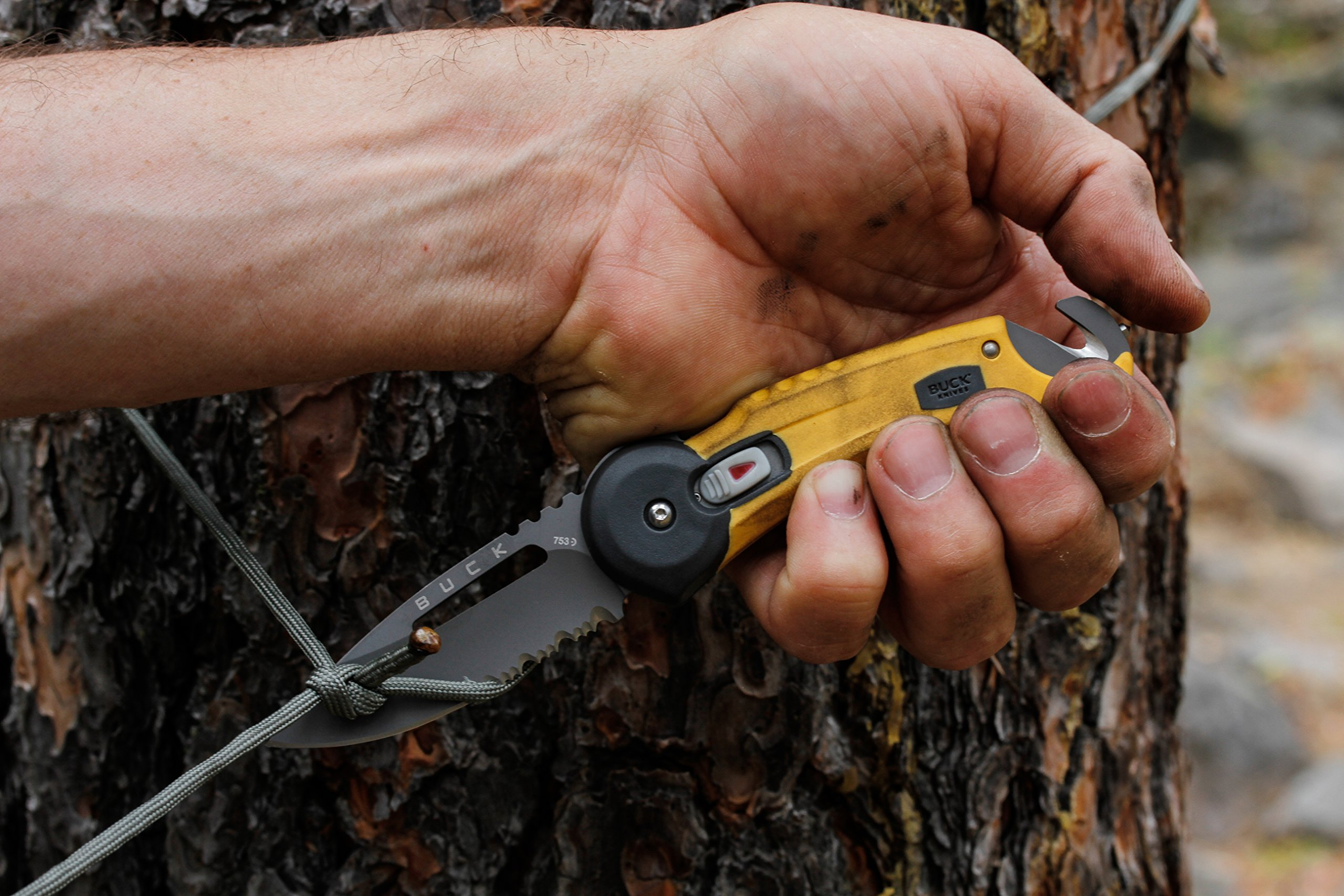 Buck Knives BU753YWX-BRK Redpoint Rescue Tactical Folding Knife Strap Cutter Glass Breaker, Yellow by Buck Knives (Image #4)