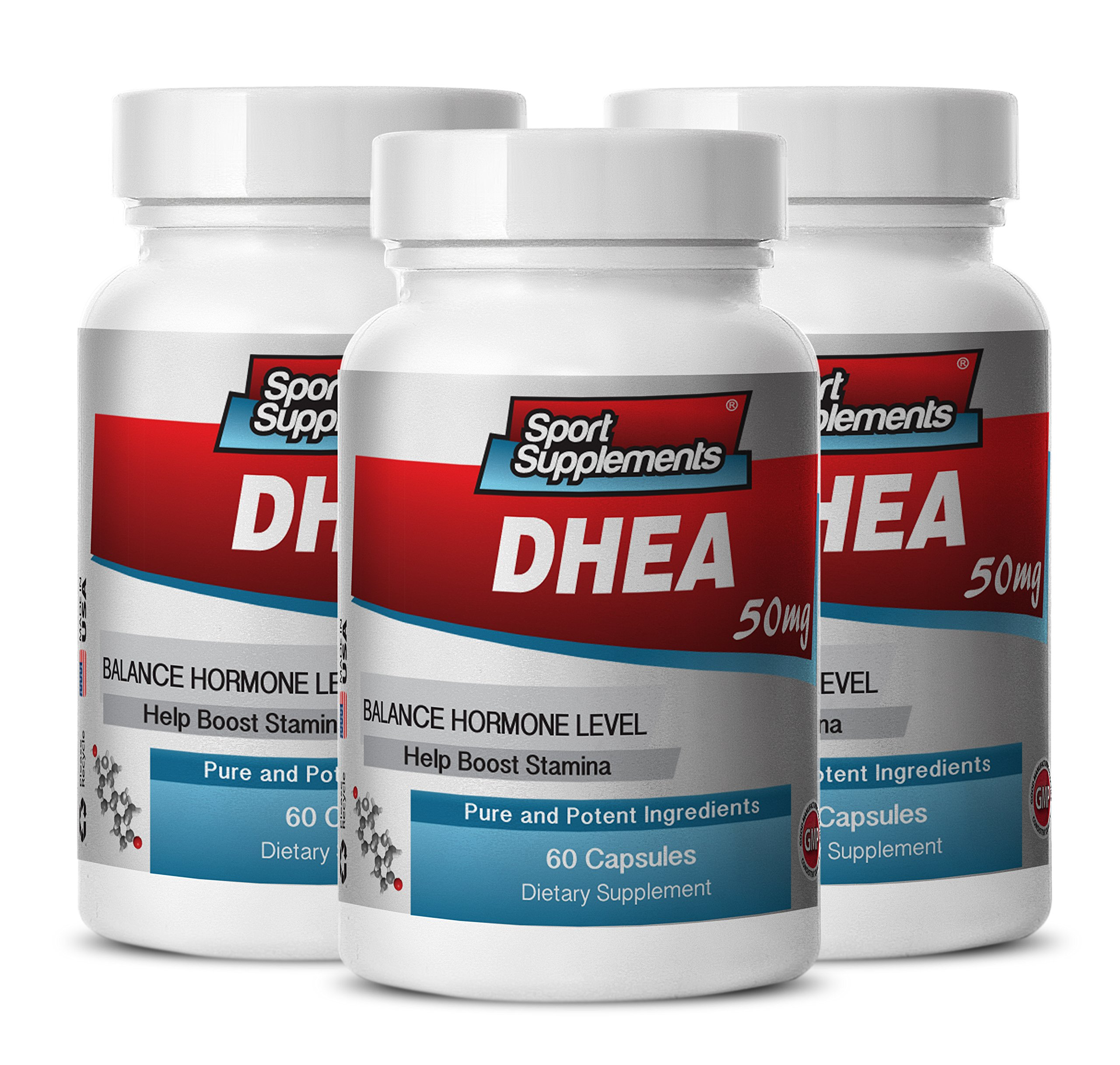 dhea l-arginine - DHEA 50mg - DHEA Natural Suppement for Boosting Sexual Desire and Performance (3 bottles 180 capsules)