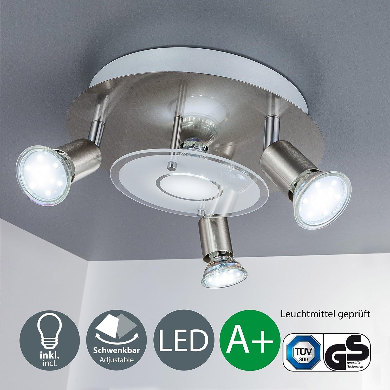 LED Deckenleuchte, inkl. 4 Spots