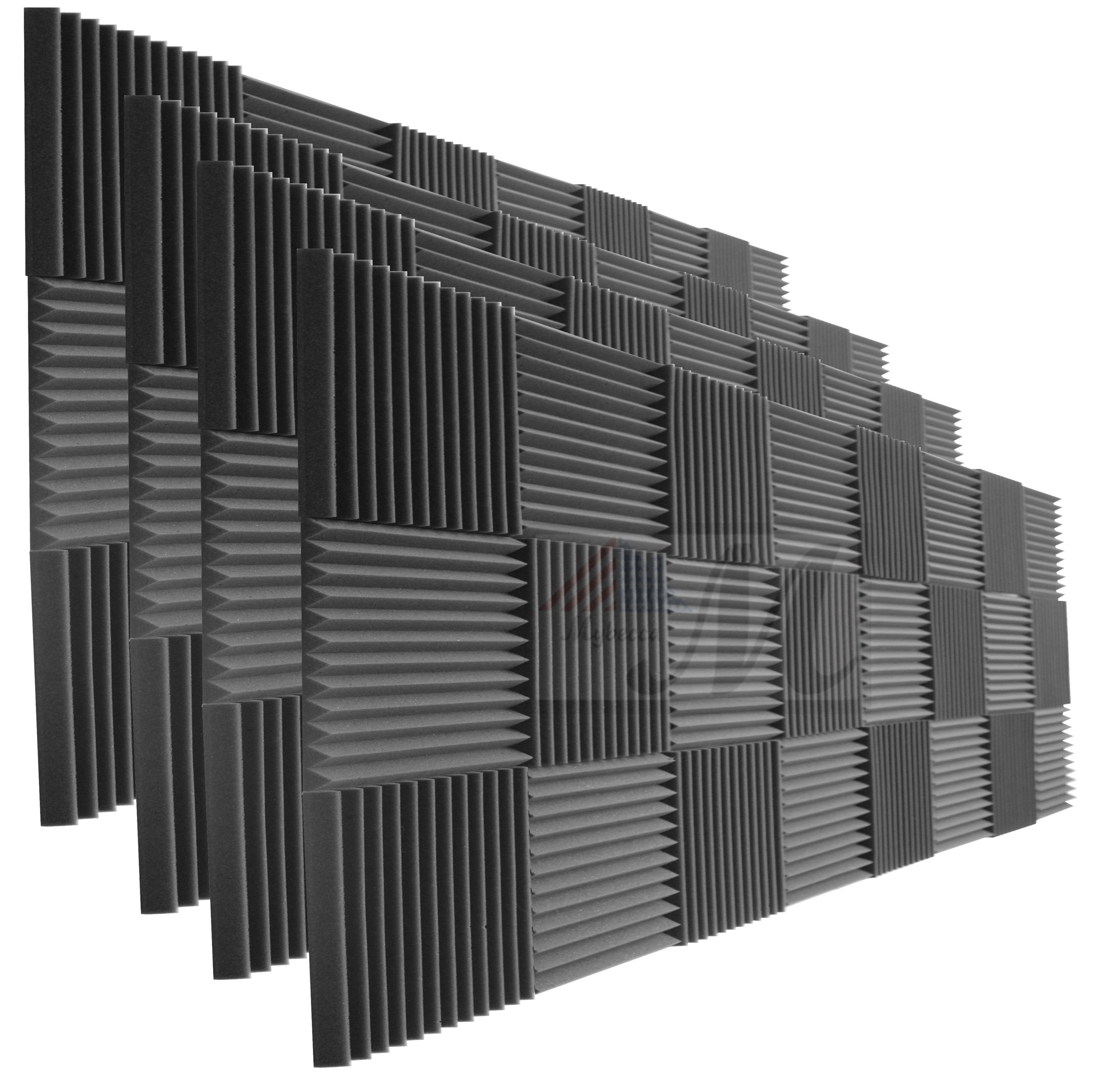 96 Pack Acoustic Panels Studio Foam Wedges 1'' X 12'' X 12''