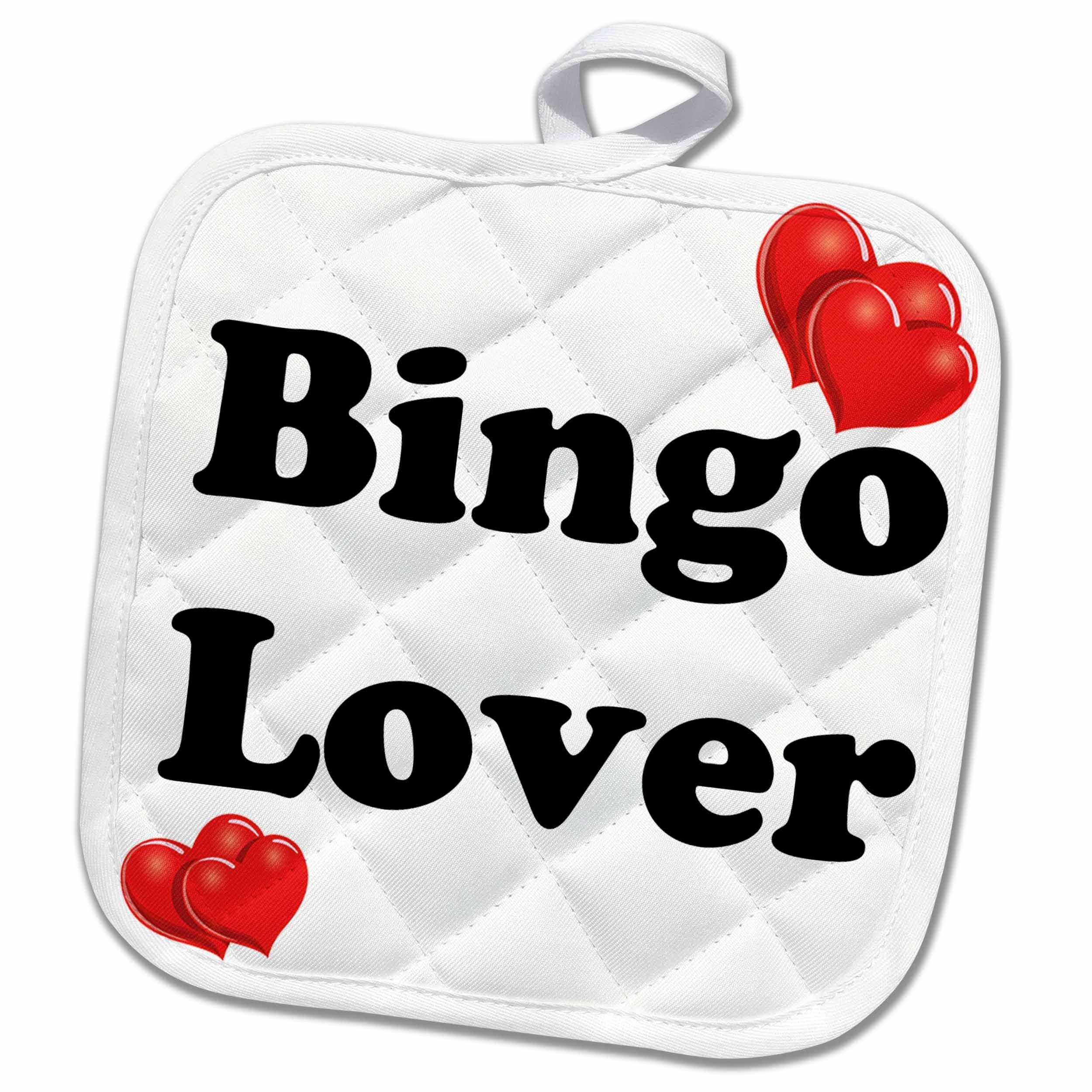 3D Rose Bingo Lover Pot Holder, 8'' x 8''