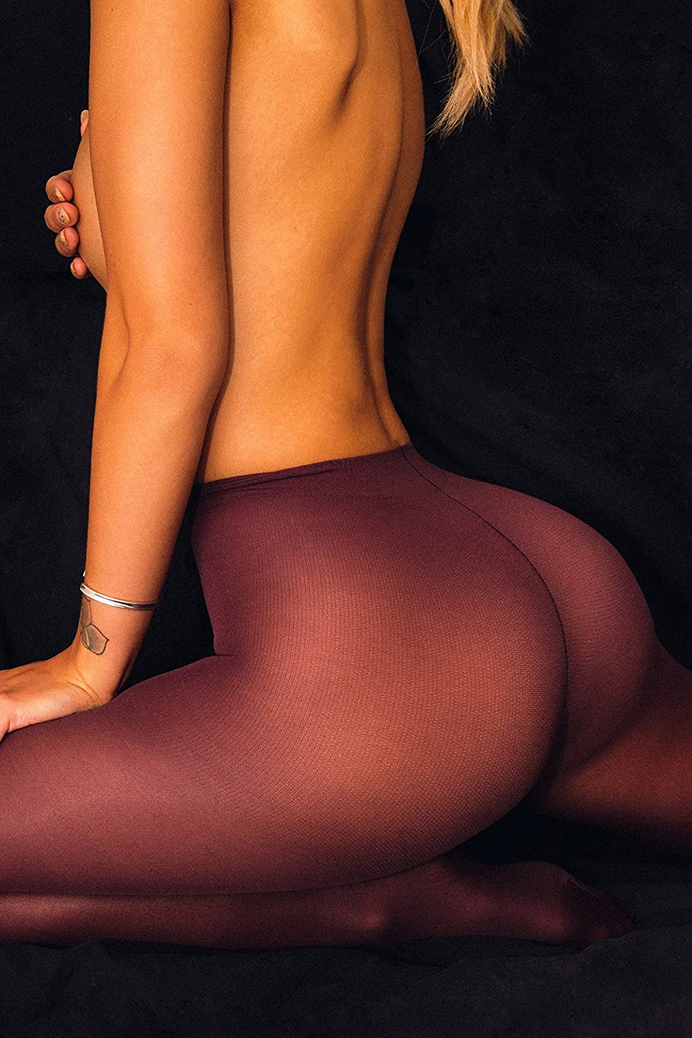 sofsy Opaque Microfibre Tights Invisibly Reinforced Opaque Control Top Brief Pantyhose Pantyhose 40Den Made In Italy