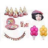 Disney Princess Theme Birthday Party Super Saver Combo - 6 Different Items - 51 pcs