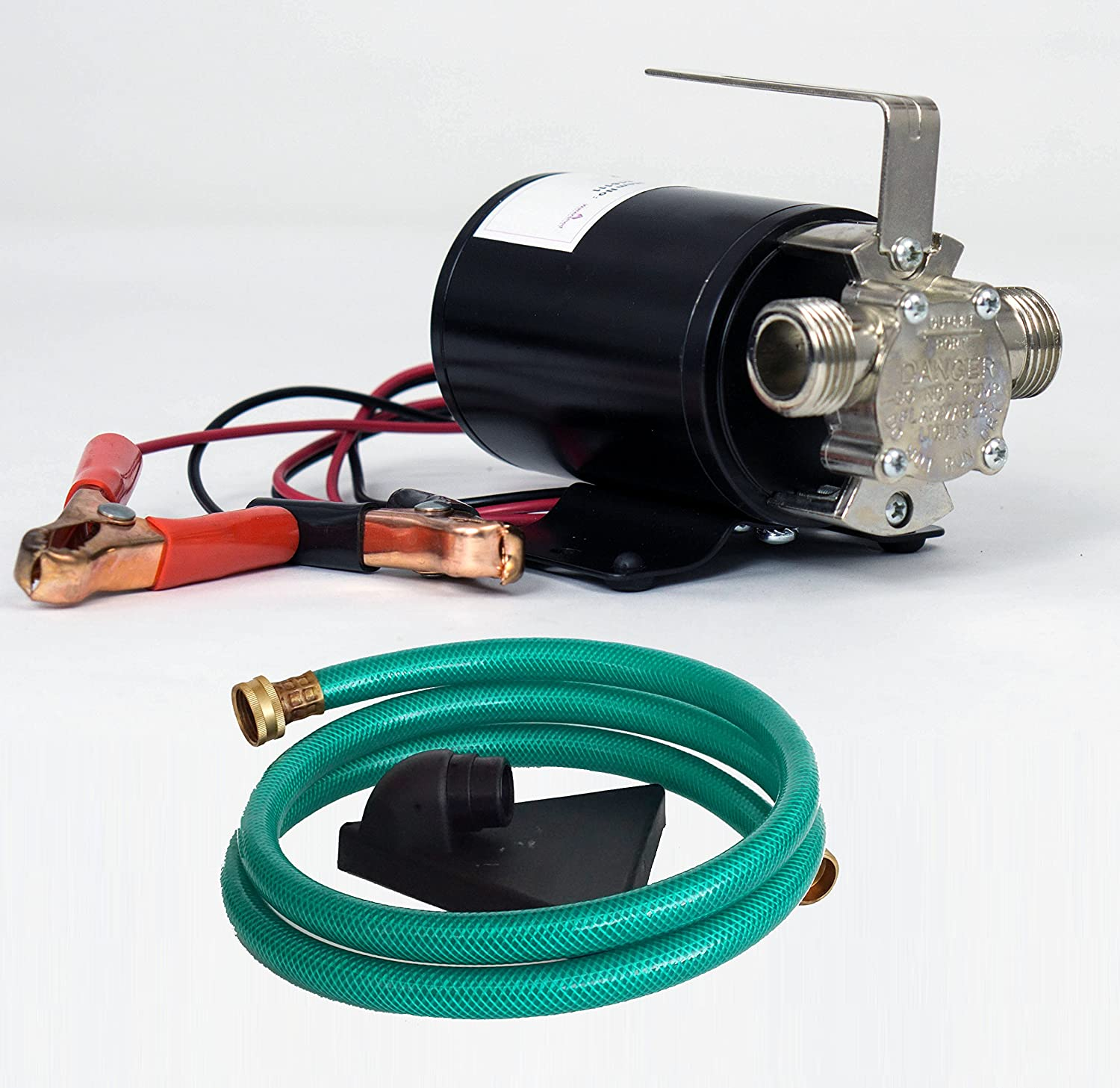 HydraPump Mini DC 12-volt 1//10th HP 330 GPH Battery Powered Portable Transfer Water Pump with Metal Connectors for Standard 3//4 Garden Hose Watershed Innovations