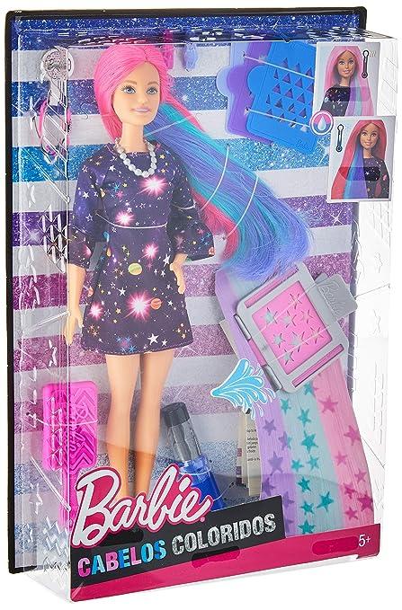 24d3a762805ee Barbie Hair Feature Doll - Color Surprise, Multi Color
