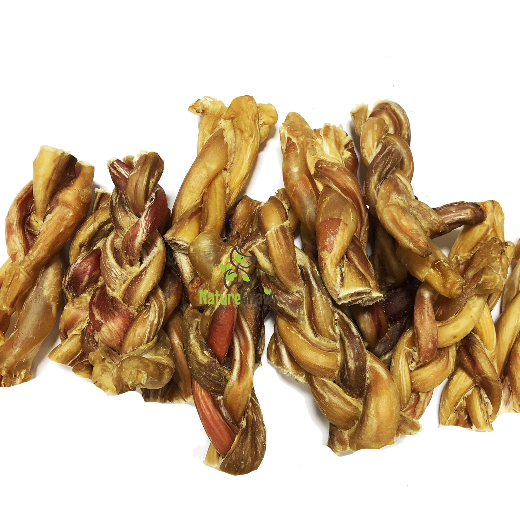 Nature Gnaws Braided Bully Stick Bites 2-4'' (15 Pack) - 100% Natural Grass-Fed Free-Range Premium Beef Dog Chews by Nature Gnaws (Image #2)