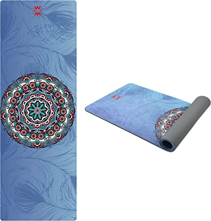 Amazon Com 4w Suede Tpe Yoga Mat Eco Friendly Non Slip Yoga Mats With Carrying Strap And Bag 72 X 24 Extra Thick 1 4 Exercise Workout Mat For Yoga Pilates Home Fitness