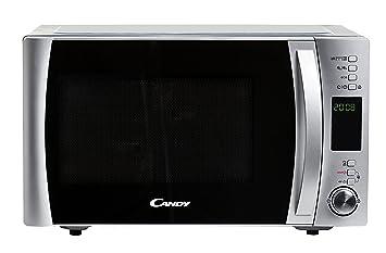 Candy CMXG30DS - Microondas con grill y cook in app, Potencia 900W, Capacidad 30L, 40 Programas Automáticos, 5 Potencias, Color Silver