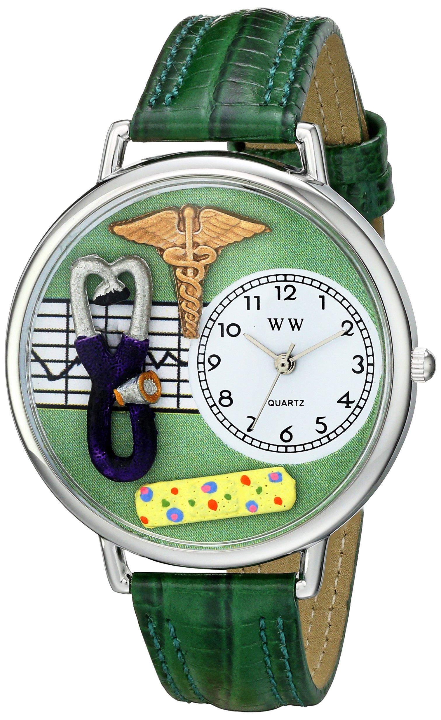 Whimsical Watches Unisex US0620056 Nurse 2 Analog Display Japanese Quartz Green Watch