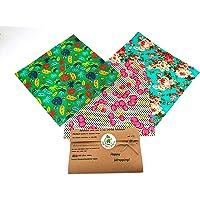 Envolturas de cera de abejas, juego de 3 GRANDES, colores aleatorios, BEE Zero Waste, UK HANDMADE, alternativa natural a…
