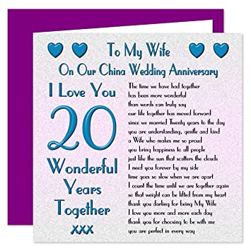20th anniversary cards for wife