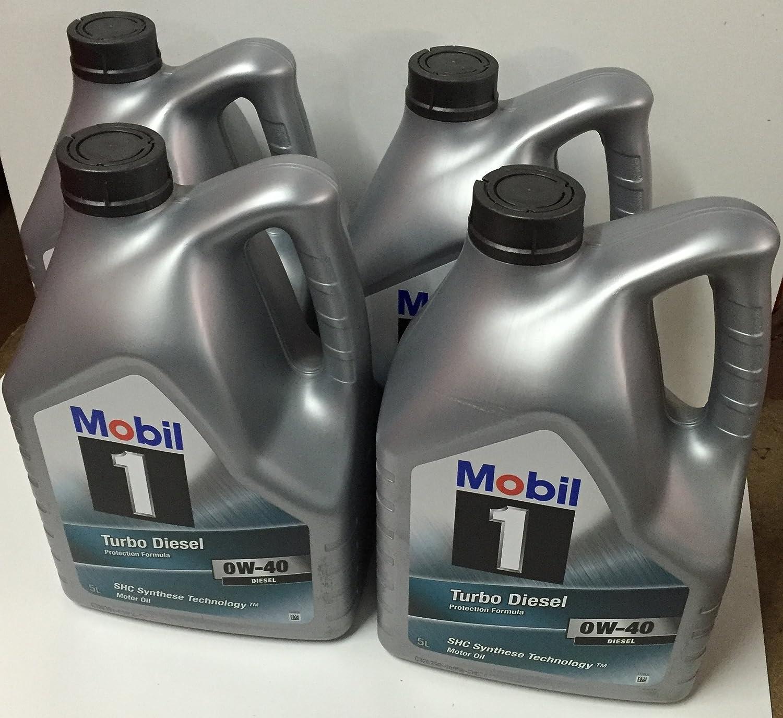 Mobil 1 - Turbo diesel 0w-40 20 litros (4x5 ltrs): Amazon.es: Coche y moto