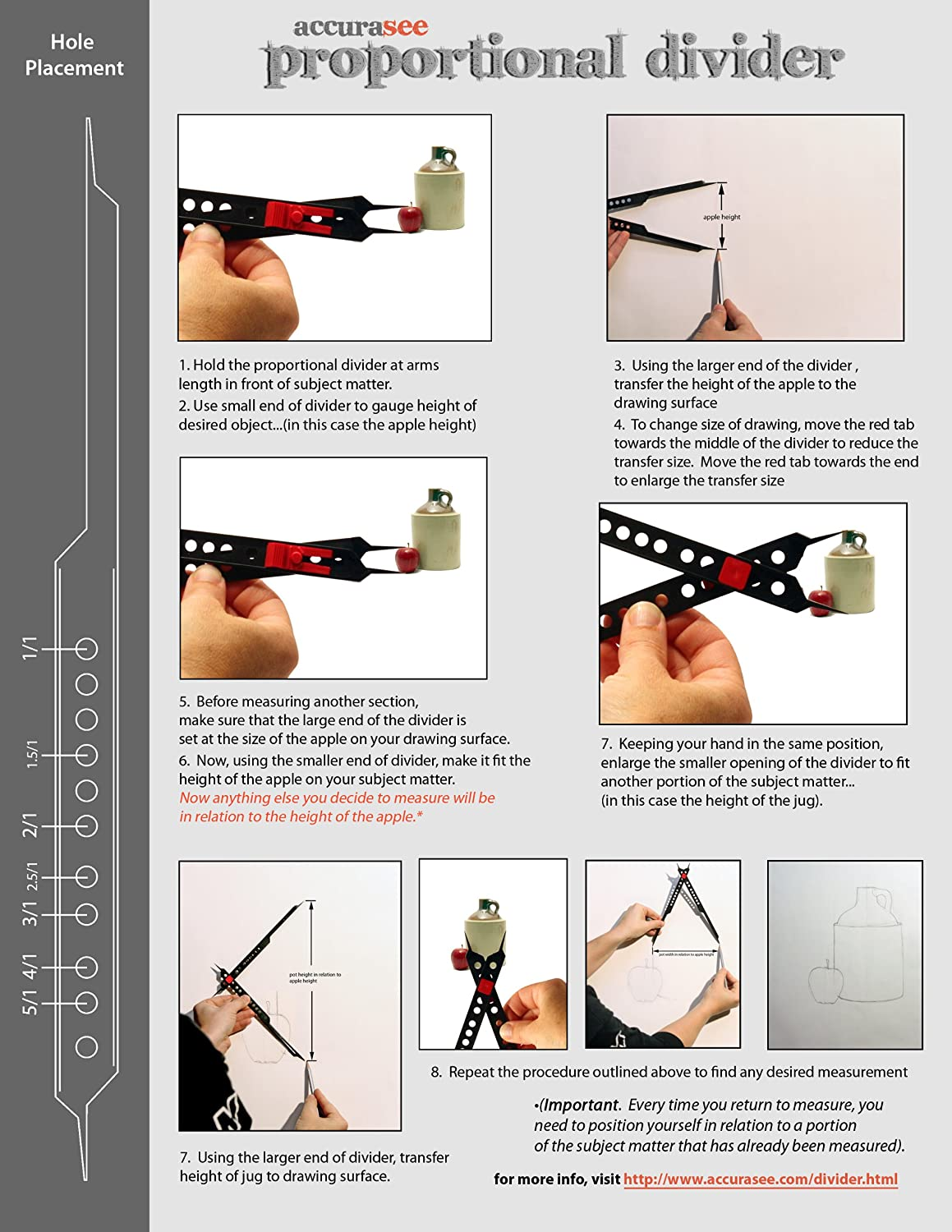amazoncom accurasee artist proportional divider proportion tools office products - Online Drawing Tool With Measurements