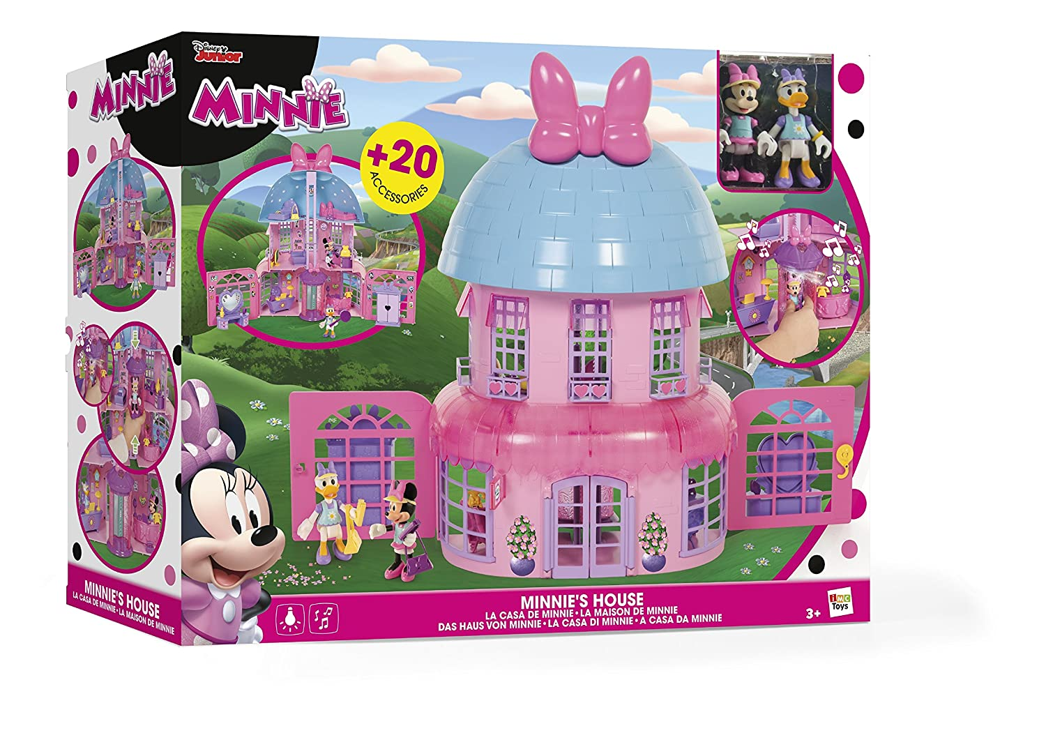IMC - 182592 - Poupée - Maison de Minnie - Disney, Rose: Amazon.fr ...