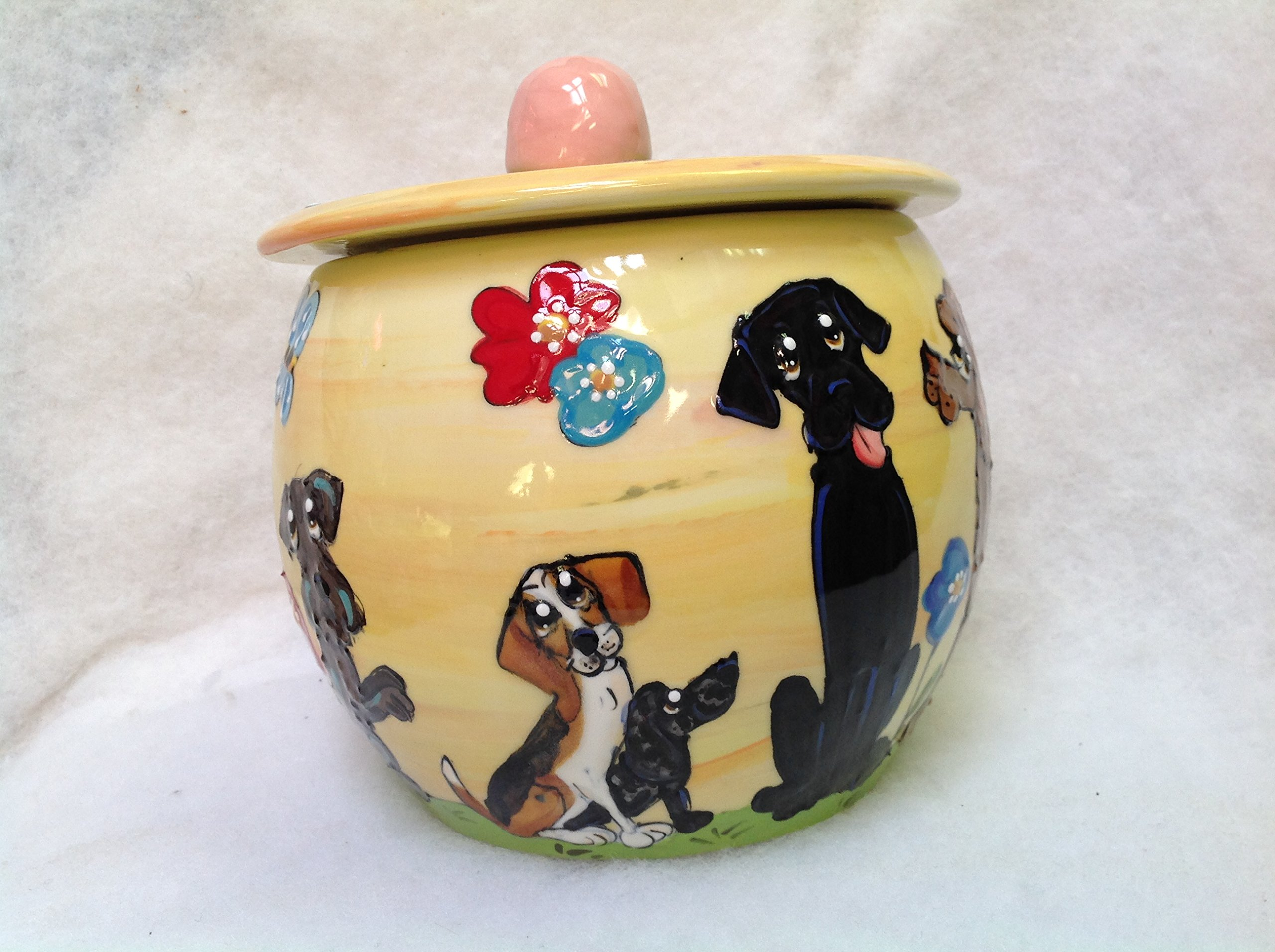 Treat Jar, Beagle. Personalized at no Charge. Signed by Artist, Debby Carman.