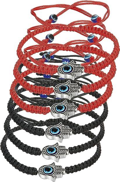 Blue Eye Red cord Lucky Friendship Bracelet Protection Evil Eye 3pack