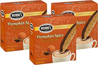 product image for Nonnis Pumpkin Spice Biscotti Limited Edition Individually Wrapped 6.88 Oz. (Pack of 3)