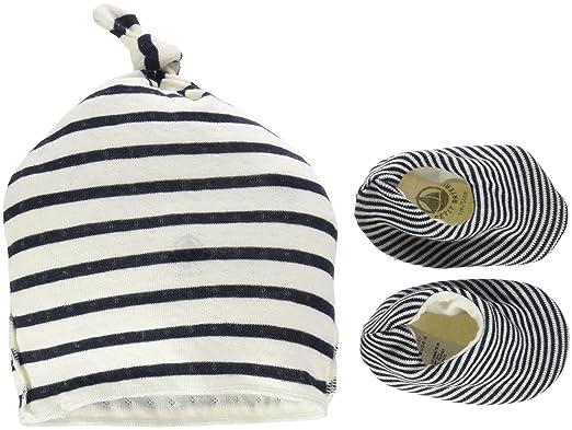 1750de1b2198 Petit Bateau Bonnet NA+Chaussons, Mixte bébé, Multicolore (Coquille Smoking)