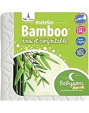 Babysom - Matelas Bébé Bamboo - Epaisseur 14cm - Déhoussable - Sans Traitement Chimique - Garantie 10ans