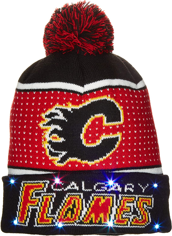FOCO NHL Unisex-Adult 2018 Big Logo Knit Light Up Beanie