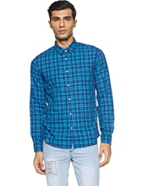 Beat London by Pepe Jeans Men's Checkered Slim Fit Casual Shirt Casual Shirts at amazon