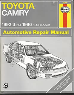 Toyota camry automotive repair manual all toyota camry and avalon toyota camry automotive repair manual 1992 through 1996 haynes automotive repair manual fandeluxe Choice Image