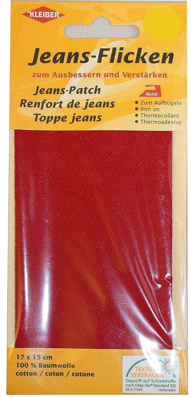 Kleiber - Parche de reparación para Pantalones Vaqueros, 17 x 15 cm, Color Rojo