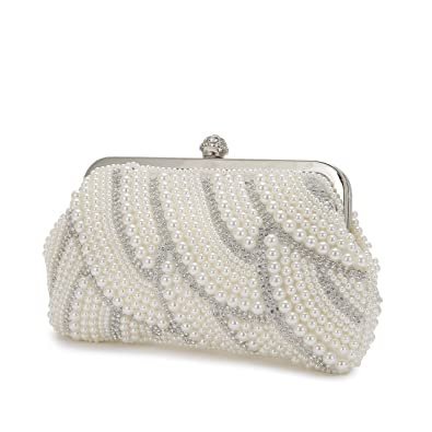 Women s Pearl Beaded Evening Bag pearl evening bags and clutches Classic  vintage evening dress cheongsam bag