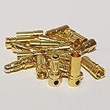 MR-Onlinehandel ® 20 Paar (40 Stück) 3,5mm Goldstecker Stecker und Buchse Hochstrom bis 80A