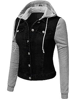 706ae8d5dd8df KOOLDO Womens Classic Solid Long Sleeve Button Down Denim Jacket with  Pockets
