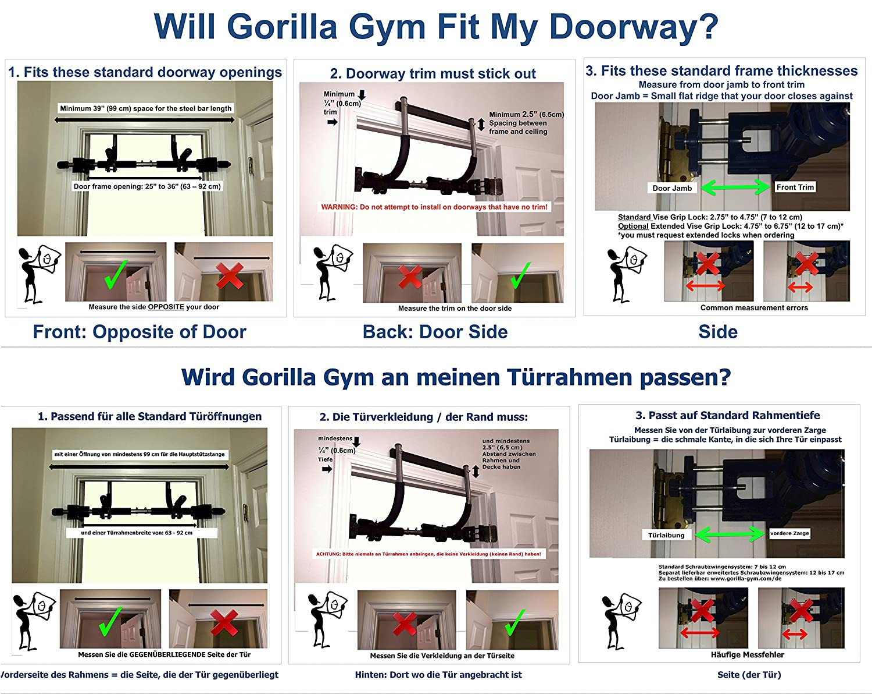 Gorilla Gym Kraft Fitness Paket: Amazon.de: Sport & Freizeit