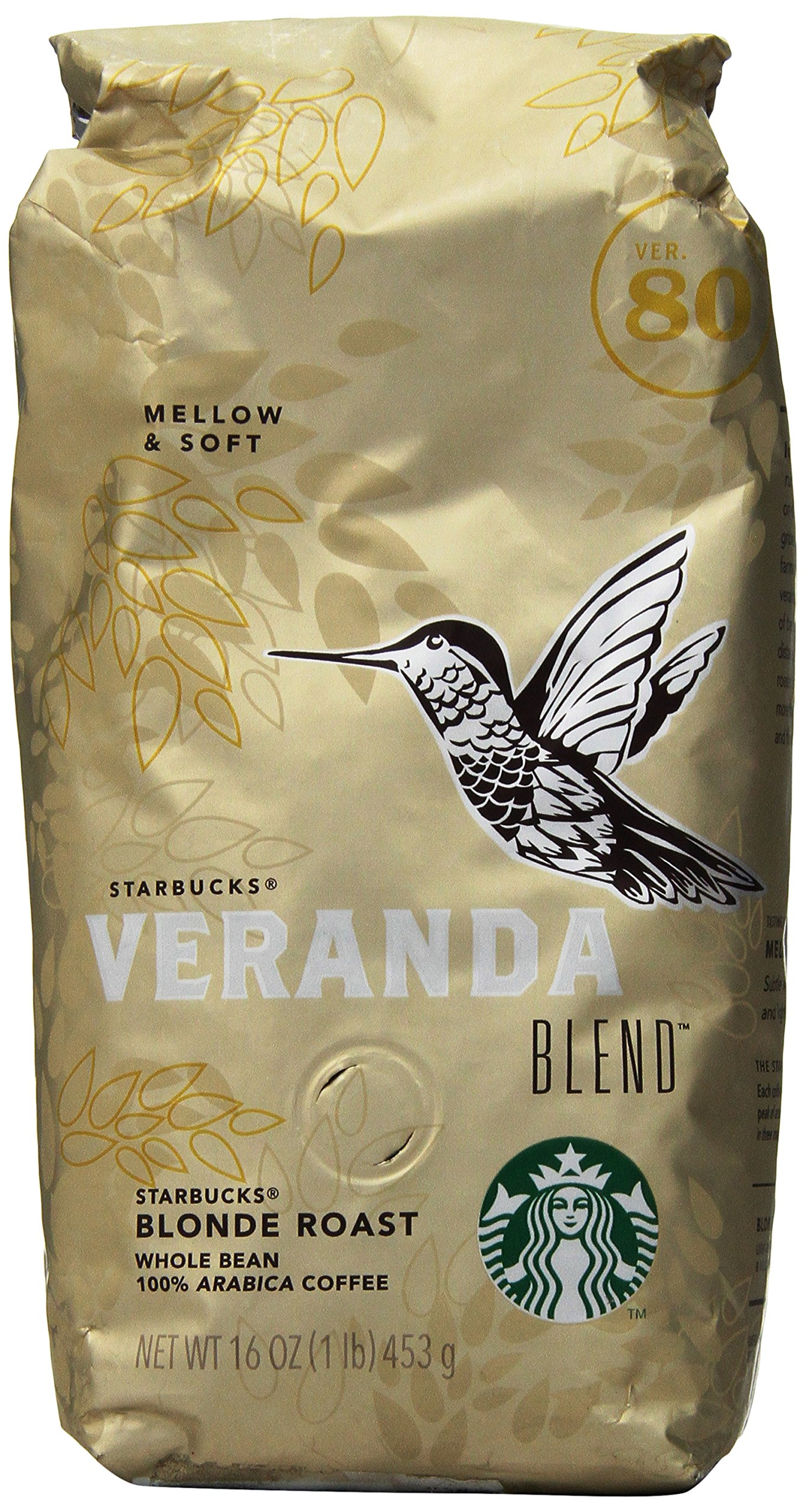 Starbucks Veranda Blendx2122; Whole Bean Coffee (1lb)