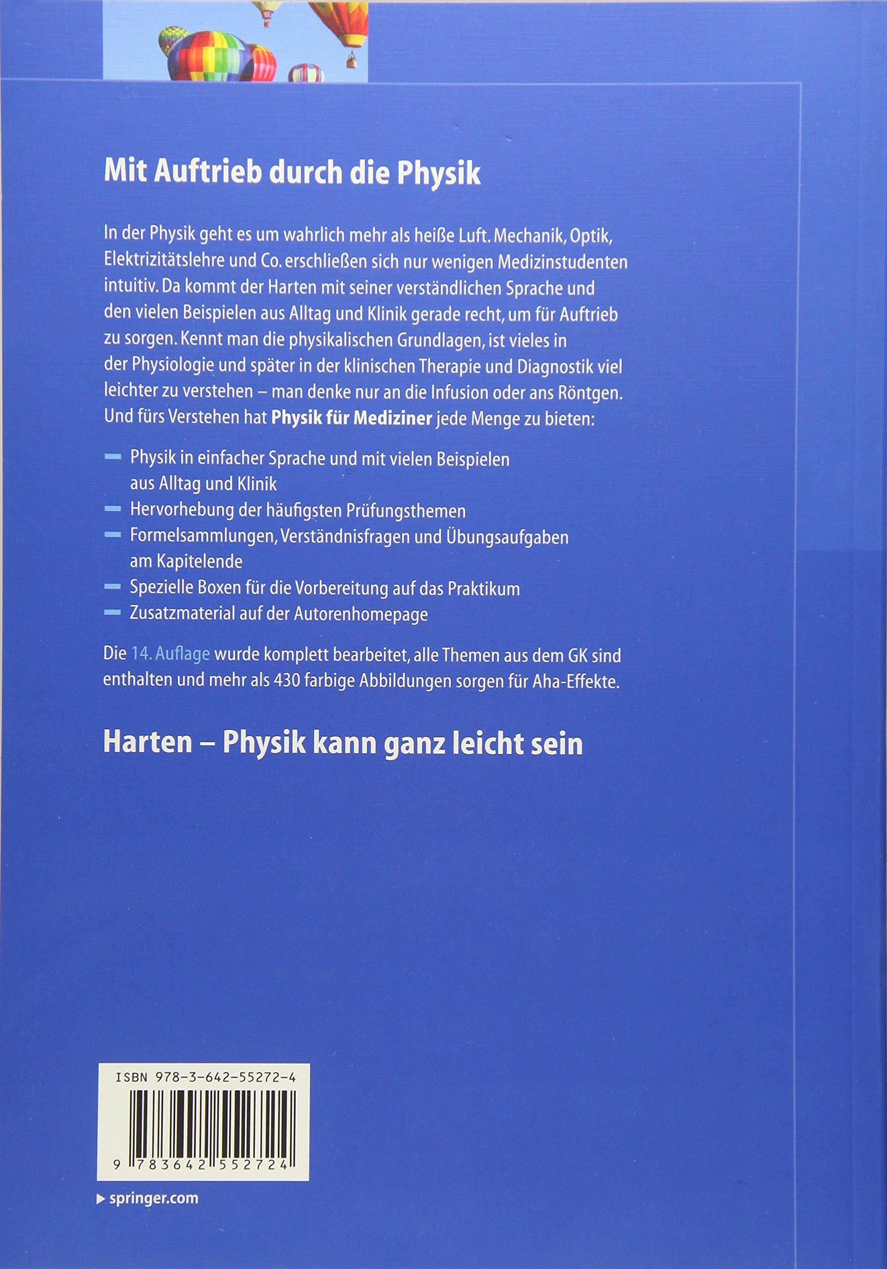 Physik für Mediziner (Springer-Lehrbuch): Amazon.de: Ulrich Harten ...
