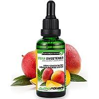 ALPHA POWER FOOD®: Stevia líquida natural - Stevia Gotas de mango, Edulcorante natural, sustituto del azúcar con sabor…